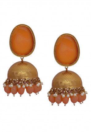Beaded Jhumka Style Earrings