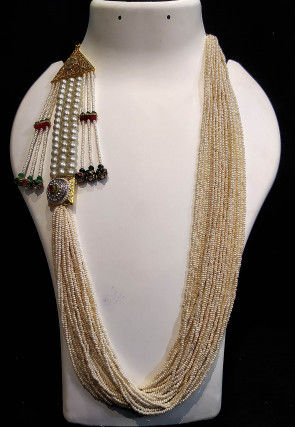 Beaded Long Layered Necklace