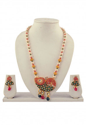 Beaded Meenakari Necklace Set