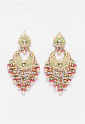 Beaded Min Meenakari Earrings