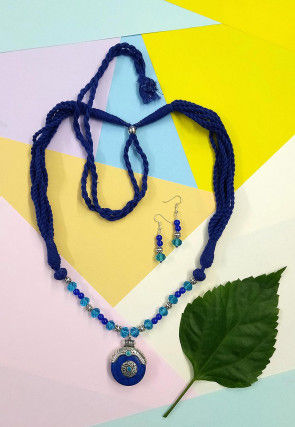 Beaded Oxidised Necklace Set