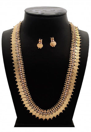 Beaded Temple Long Necklace Set