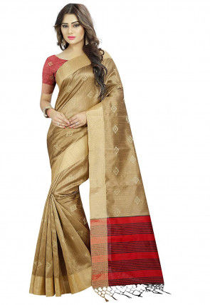 Bhagalpuri Silk Saree in Beige