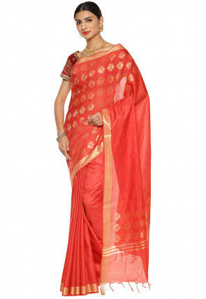 Bhagalpuri Silk Saree in Red