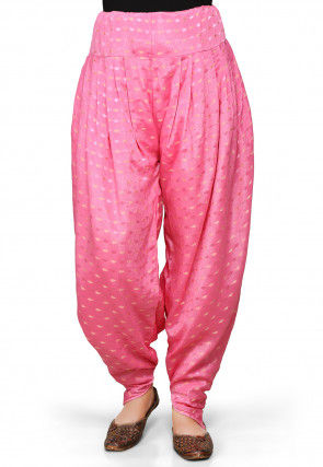 Chinon Viscose Dhoti Pant In Pink