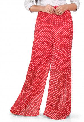 a3f3f9e9a4d Lehariya Printed Georgette Palazzo in Red
