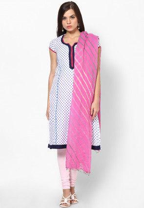 Leheriya Chiffon Dupatta in Baby Pink