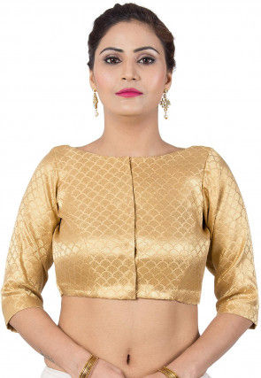 Brocade Blouse in Golden