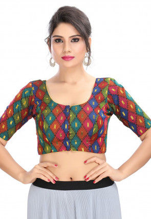 Brocade Blouse in Multicolor