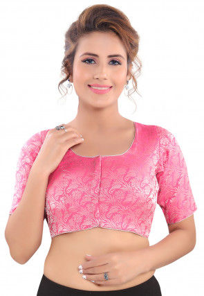 Brocade Blouse in Pink