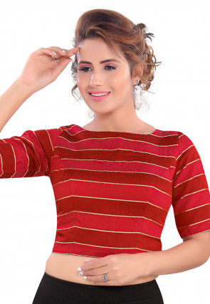 Brocade Blouse in Red