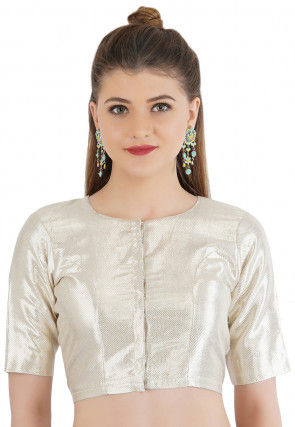 Brocade Blouse in Silver