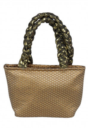 Brocade Hand Bag in Beige