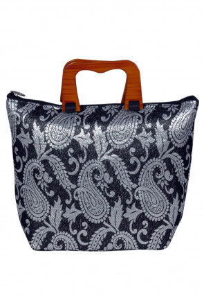 Brocade Hand Bag in Black