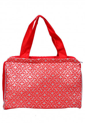 Brocade Hand Bag in Red