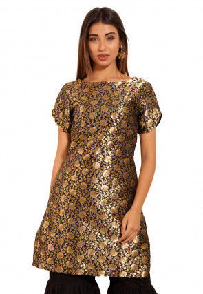 Brocade Kurti in Black