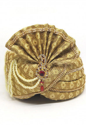 Brocade Turban in Golden
