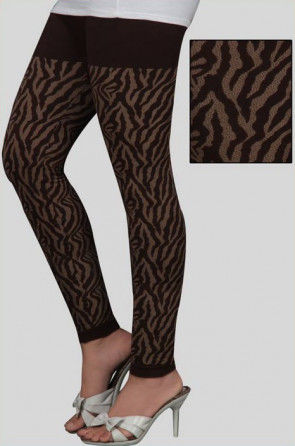 Readymade Cotton Knitted Stretch Seamless Legging in Chocolate Brown