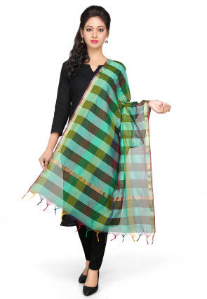 Handloom Art Silk Dupatta in Multicolor