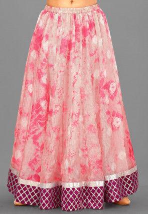 Art Kota Silk Skirt in Fuchsia