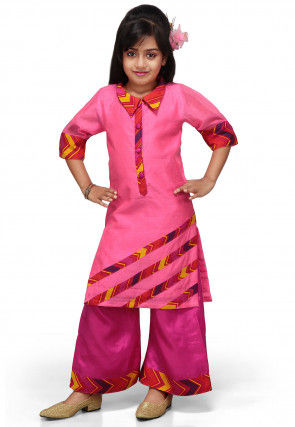 Chanderi Silk Salwar Sets in Pink