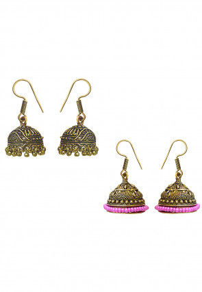 Combo of Oxidised Jhumka Style Earrings