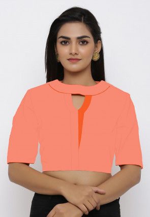 Cotton Blouse in Peach