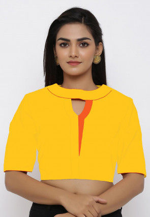 Cotton Blouse in Yellow