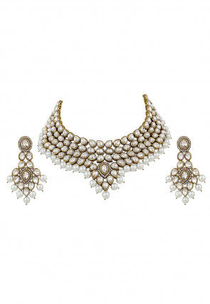 CZ Stone Studded Necklace Set