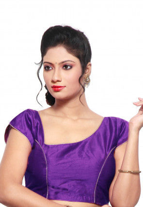 Dupion Silk Blouse in Purple