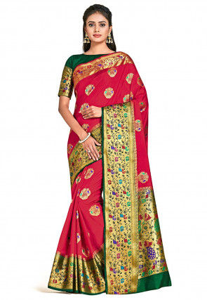 Dharmavaram Silk Saree in Red