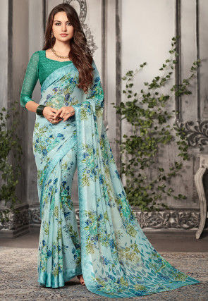 e4d0ff7425 Printed Chiffon Sarees: Buy Latest Designs Online | Utsav Fashion