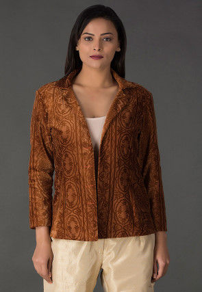 Brasso Velvet Jacket in Brown