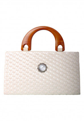 Plain Clutch Bag in White