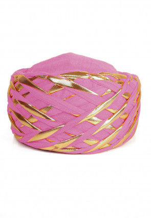 Embellished Cotton Turban in Pink