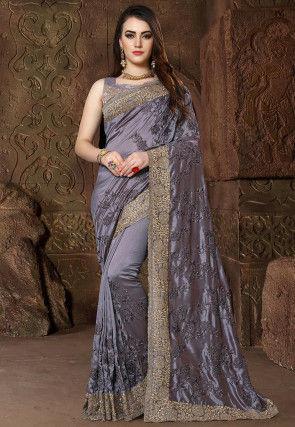 417c8b3bb0c124 Buy Grey Sarees Online In Stunning Designs & Fabrics At Utsav Fashion