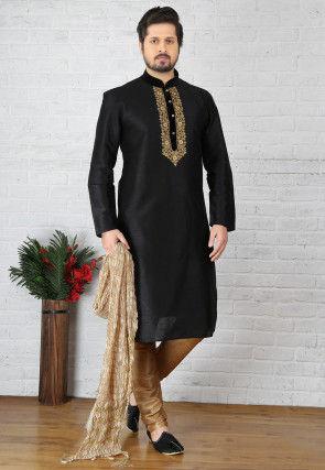 5d151c1a Men's Wedding Wear Kurta Pajama: Shop For Luxury Ethnic Wear Online | Utsav  Fashion