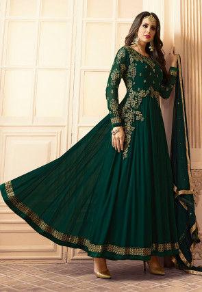 Green Georgette Salwar Suits Buy Latest Designs Online Utsav Fashion