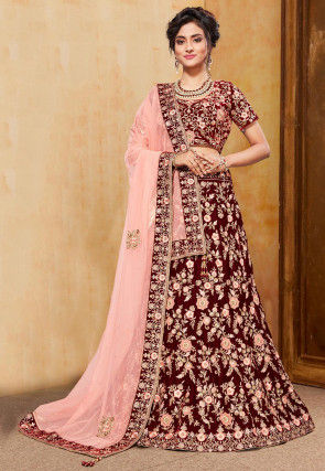 cd604b296d Buy Sequins Lehenga Cholis and Sequins Work Lehengas Online