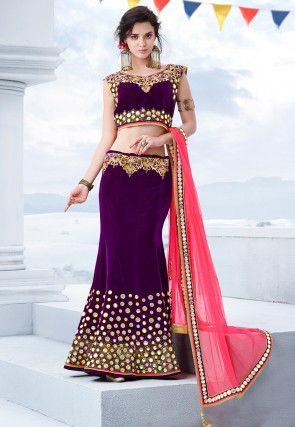 49fc2185b245f1 Mermaid Cut Lehengas, Mermaid Cut Lehenga Choli Online