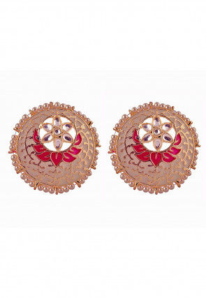 Enamel Filled Earrings