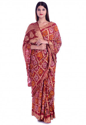 Ghatchola Silk Saree in Maroon