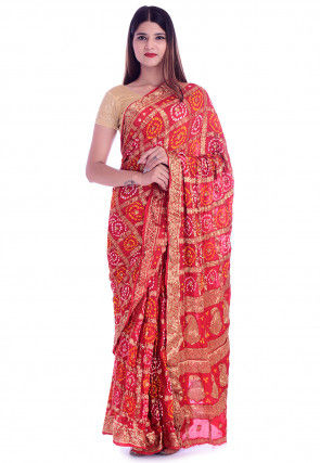 Ghatchola Silk Saree in Red