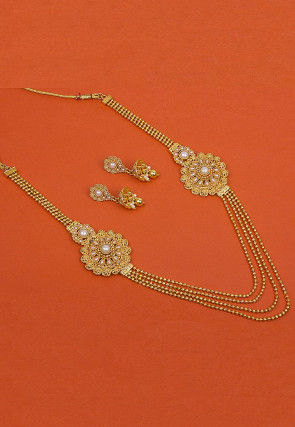 Gold Plated Beaded Layered Necklace Set