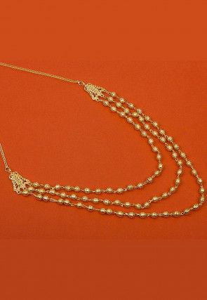 Golden Polished Layered Necklace