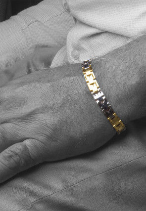 Golden Polished Men Bracelet