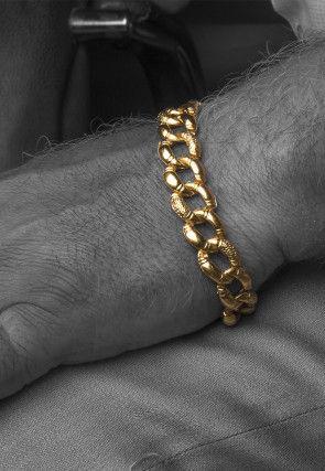 Golden Polished Men Bracelet