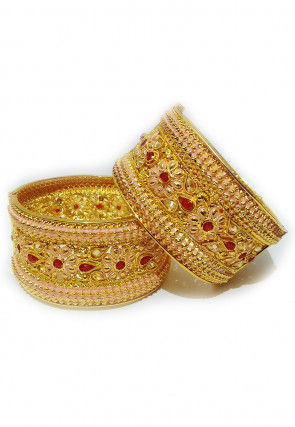 Golden Polished Openable Bangle Pair