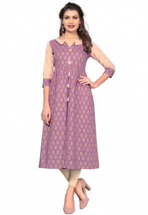 045dc6b3c8491 Poly Cotton - Block Print - Indo Western Dresses  Buy Latest Indo ...