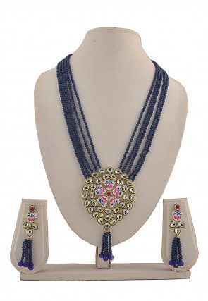 Hand Painted Kundan Necklace Set